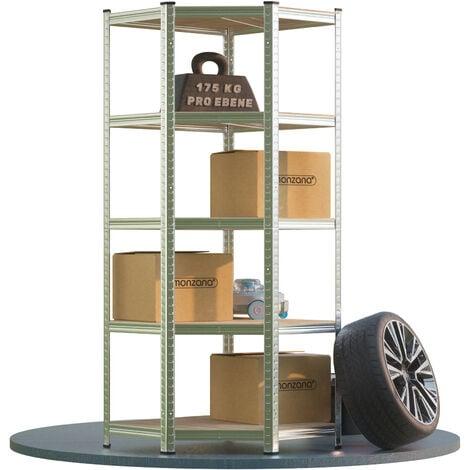 "main image of ""Monzana Corner Heavy-Duty Shelf 180x70x40cm 875 kg 5 MDF Panels Storage Basement Plug-in Workshop Shelf"""