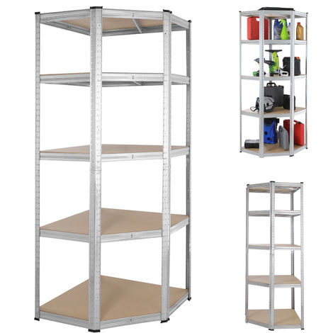 Monzana Corner Shelving Unit 180x70x40cm 875 kg Storage Shelf Shelves Heavy Duty Racking