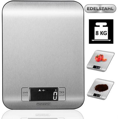 LCD-Display Touch-Sensor-Bedienung bis 5 kg Briefwaage: Digitale Küchenwaage