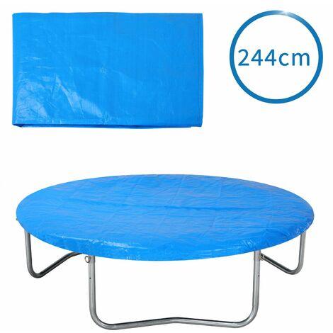 Monzana Funda protectora para cama elástica Azul protección trampolín redondo - diámetro a elegir
