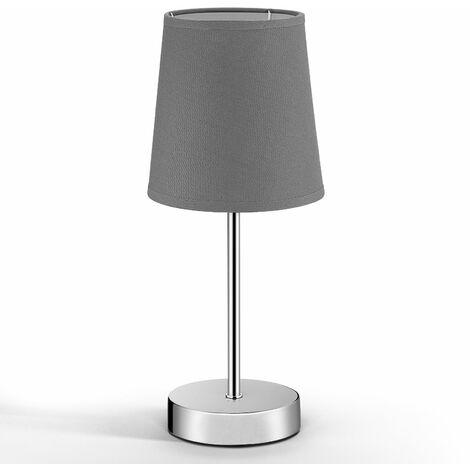Monzana Lámpara de mesa de pie con pantalla gris 32x13x13 cm luz de noche ambiente atenúado elegante decoración interior