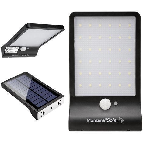 monzana LED Solar Wall Light Solar Lantern Stainless Steel Lamp Garden Outdoor