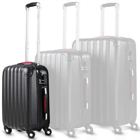 Monzana Maleta rígida Baseline M color Negro equipaje de viaje 34L peso 2,25Kg con ruedas 360° trolley 2 asas valija