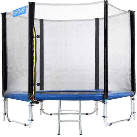 Monzana Outdoor Trampoline Set for Kids & Adults Safety Enclosure Net Ladder Galvanized Frame Tools 150Kg max. 8ft