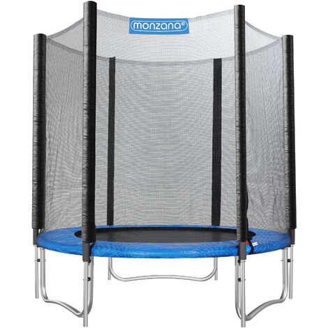 Monzana Outdoor Trampoline Set for Kids & Adults Safety Enclosure Net Ladder Galvanized Frame Tools Ø 183cm - TÜV SÜD GS