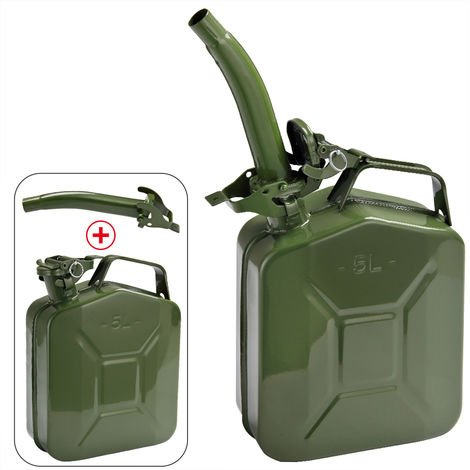 Monzana Petrol Can 5 L UN-Approved Metal Diesel Fuel Can Container