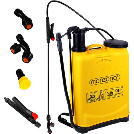 Monzana | Pulvérisateur à pression • 16 L • dorsal avec bretelles • 4 buses | Jet, jardin