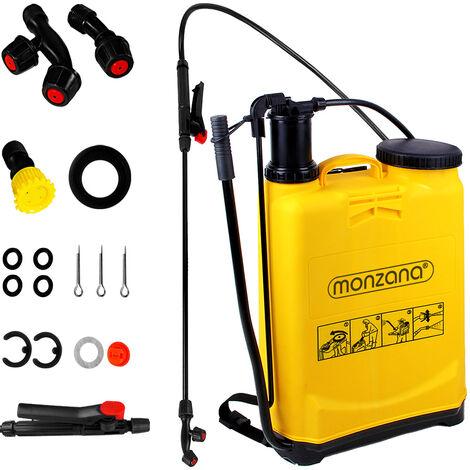 Monzana Pulverizador a presión 20L mochila de pulverización con accesorios manguera y boquillas limpieza fertilización