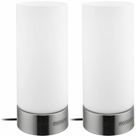 "main image of ""Monzana Set de 2 lámparas de mesa con función tácil 3 niveles de luminosidad Luz Modelos varios Set 2 Lumo"""