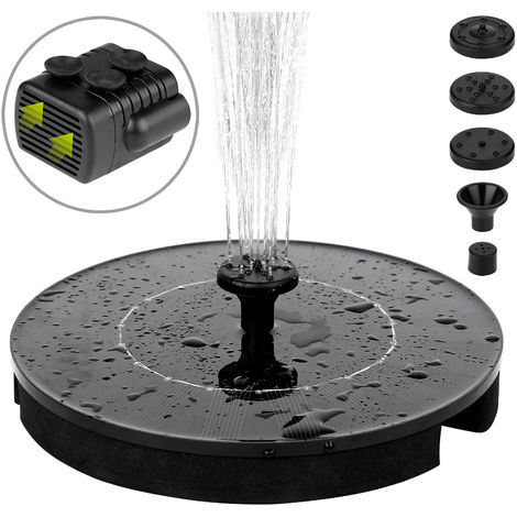 Monzana Solar Fountain Floating Pump 2.4 Watt Water Garden Pond Bird Bath Waterflow Sprinkler Fish Tank Pool Patio