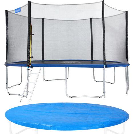 Monzana Trampolín para jardín set completo + cobertura cama elástica de diámetro a escoger 244 305 366 y 426 cm Ø 426cm (de)