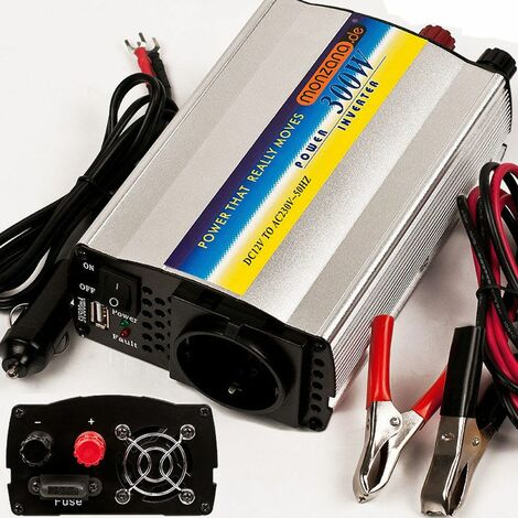 Monzana | Transformador de tensión | convertidor inversor de corriente | ideal para coche o carabanas |