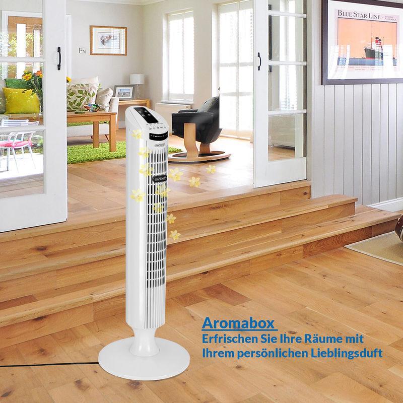 Ventilador de Torre con Mando a Distancia Funci/ón Turbo 3 Niveles de velocidad /ángulo de oscilaci/ón 90/°