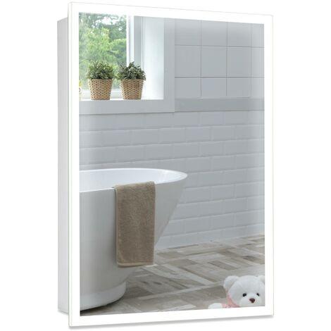 MOOD LED Bathroom Mirror Cabinet 50cm(H) x 65cm(W) x 15cm(D) C26
