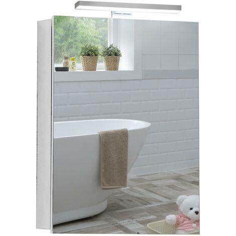 MOOD LED Bathroom Mirror Cabinet 70cm(H) x 50cm(W) x 15cm(D) C25