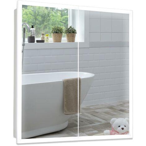 MOOD LED Bathroom Mirror Cabinet 70cm(H) x 65cm(W) x 15cm(D) C27