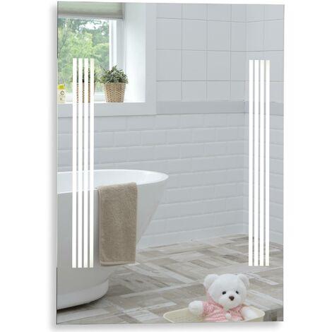 MOOD Rectangular Bathroom Mirror 80cm x 60cm Illuminated