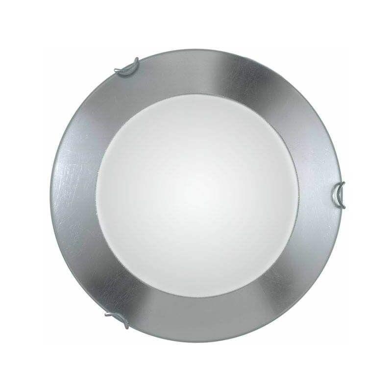 Image of 14-kolarz - MOON chrome ceiling light 1 bulb, silver leaf shade