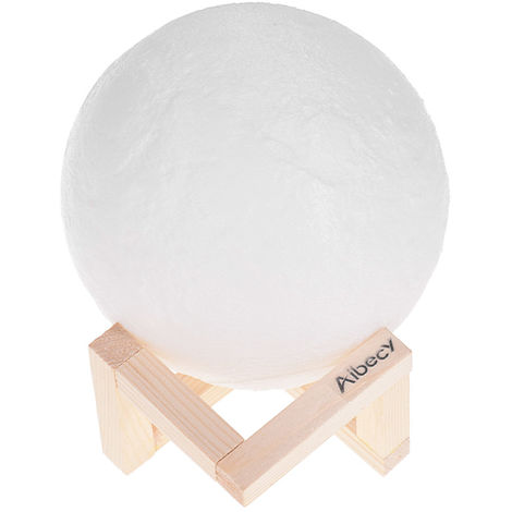 Moon Lamp 3D Print LED Night Light 16 Diameter 15cm/ 5.9in
