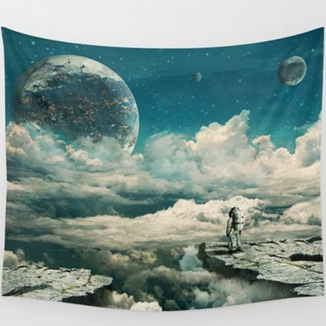 Moon Polyester Hanging Wall Tapestry Indian Bedspread Hippie Dormitory Bed Mat Art