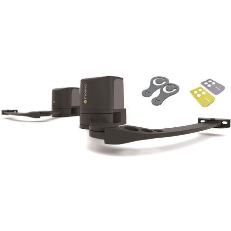 Moovo - XA432KM/02 - Kit de motorisation pour portail battant - Noir