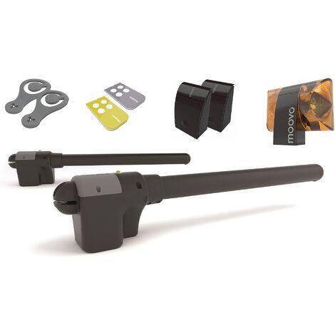 Moovo - XW532KM - Kit de motorisation pour portail battant - Noir