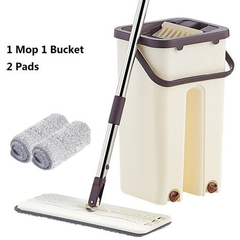 Mop Broom Magic Bucket Cleaning Wringing Microfibers Autoclean