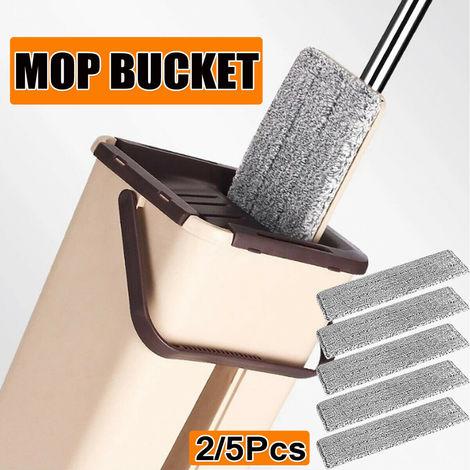 Mop Mop Bucket Limpieza Piso Cabeza giratoria Escoba 360 Degree5X Almohadilla de microfibra