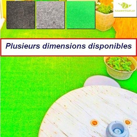 Moquette d'extérieur Verte | dimensions au choix | tapis idéal pour terrasse, piscine, balcon, garage ou salle de jeux etc.
