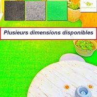 Moquette d'extérieur Verte   dimensions au choix   tapis idéal pour terrasse, piscine, balcon, garage ou salle de jeux etc.
