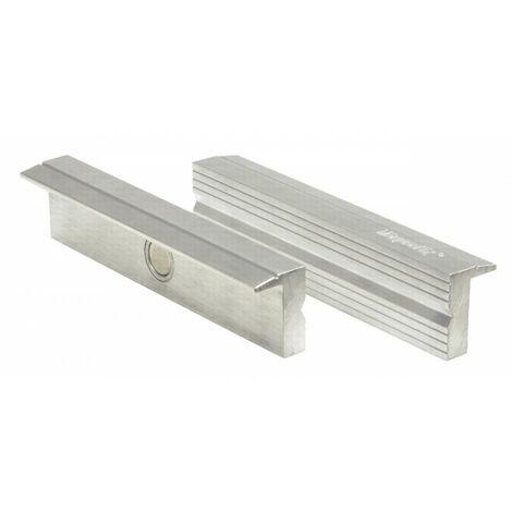 Mordache aimantées finition aluminium profilé 125mm (pour tubes)
