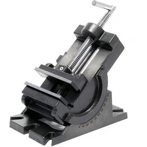 Mordaza de precisión para máquinas 100mm Base giratoria 90° ajustable en vertical Tornillo de banco