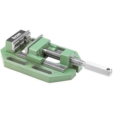 Mordaza para taladro de precisión, Cuerpo de fundición especial, tamaño : 1, 80 mm, capacidad 70 mm, Distancia entre ranuras : 110 mm