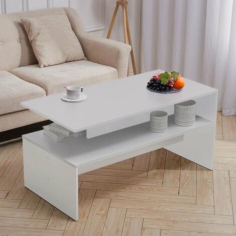 Mordern Coffee Table Console Desk Organiser Living Room Shelf End Display