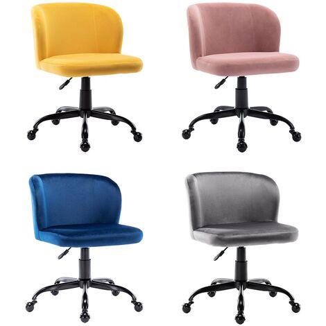 More4homes Frances Velvet Swivel Desk Study Home Office Computer Chair Livingroom Bedroom Chair