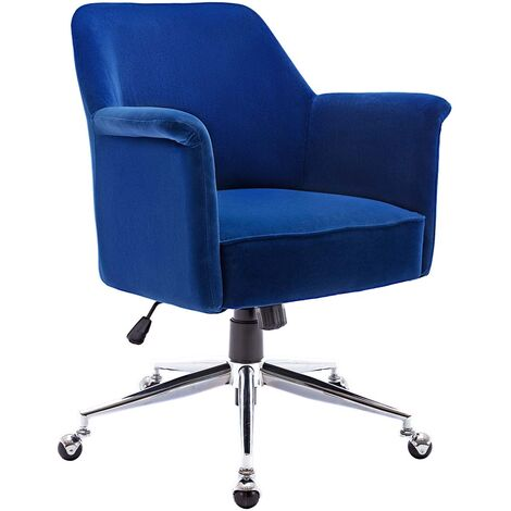 More4homes Rene Velvet Swivel Desk Study Home Office Computer Chair Livingroom Bedroom Armchair