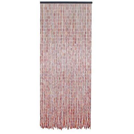 MOREL - Rideau de porte en bambou et perles de bois - 200x90 cm