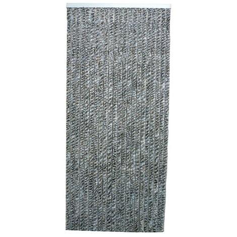 MOREL - Rideau de porte Flash chenilles 90x220 cm - gris