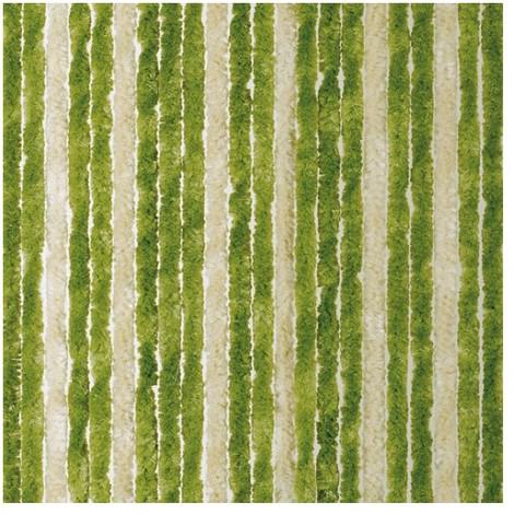 MOREL - Rideau de porte Flash chenilles 90x220 cm - vert, beige