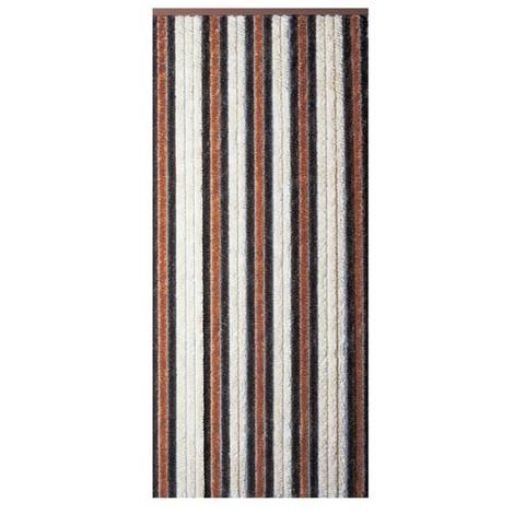 MOREL - Rideau de porte Florence chenilles 90x220 cm - beige, bronze, brun