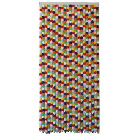 MOREL - Rideau de porte Katmandou chenilles - 90x220 cm - multicolore
