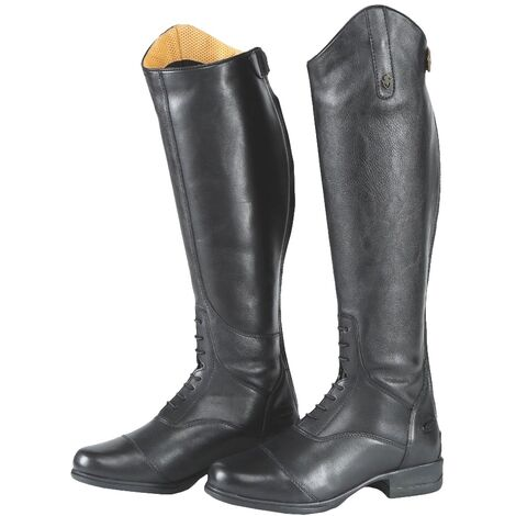Moretta Childrens/Kids Gianna Leather Long Riding Boots