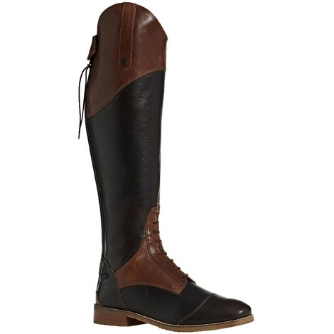Moretta Womens/Ladies Pietra Leather Long Riding Boots