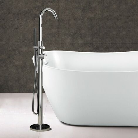 "main image of ""Morgan Freestanding Bath Mixer Tap & Shower Handset Chrome"""