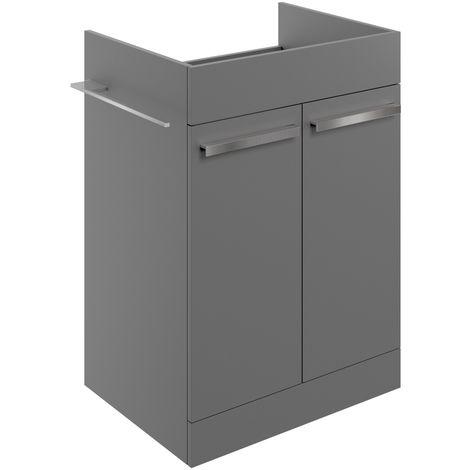 Morina Floor Standing Vanity Unit 600 Matt Urban Grey - No Worktop