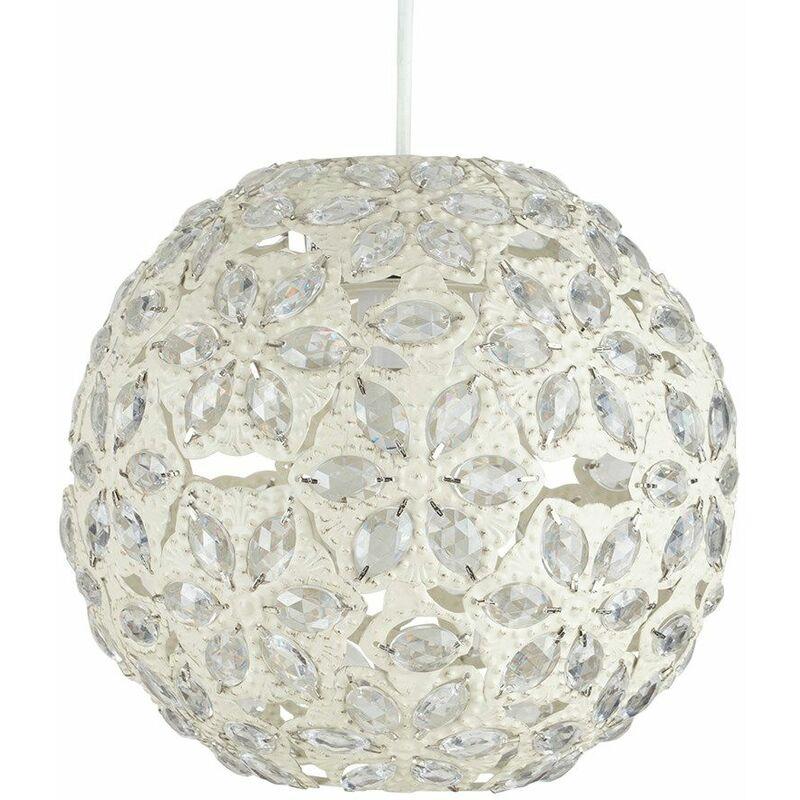 Metal Jewelball Ceiling Pendant Light