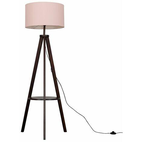 Morrigan Tripod Floor Lamp In Dark Wood