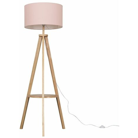 Morrigan Tripod Floor Lamp In Light Wood
