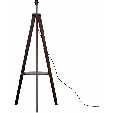 Morrigan Wooden Tripod Floor Lamp Base