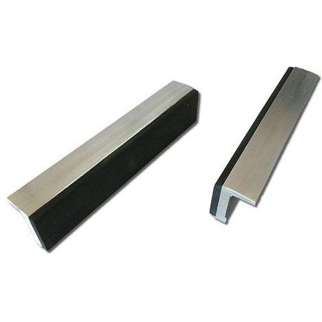 Mors doux DOLEX 100 mm aluminium et caoutchouc